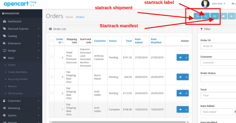 Startrack shipping